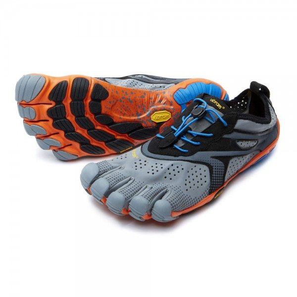 V-RUN Vibram Fivefingers Men s Running Shoes Grey Orange d8de15f657ec
